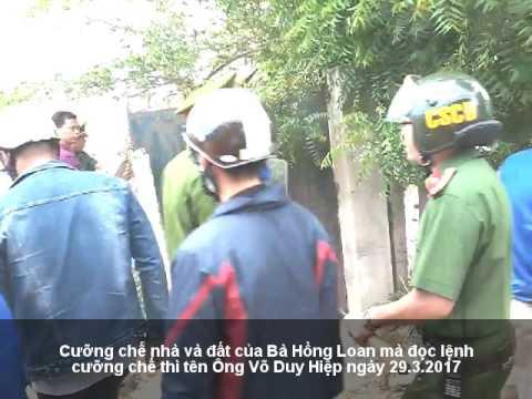 Cưỡng chế trái Pháp luật nhà đất bà Hồng Loan của cơ quan các cấp TP. Phan Rang, Ninh Thuận 29.3.17