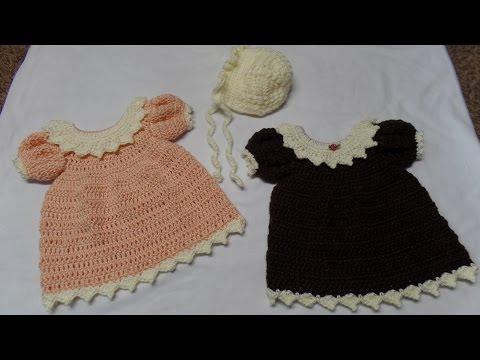CROCHET How to #Crochet Newborn Dress and Bonnet Part 1 Dress #TUTORIAL #288 LEARN CROCHET