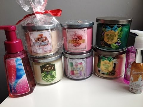 Huge Bath Body Works Spring 2014 Candle Haul Review Youtube