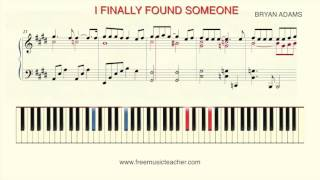 "How To Play Piano: ""I Finally Found Someone"" by Bryan Adams and Barbra Streisand"