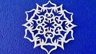 как сделать снежинку красиво и легко