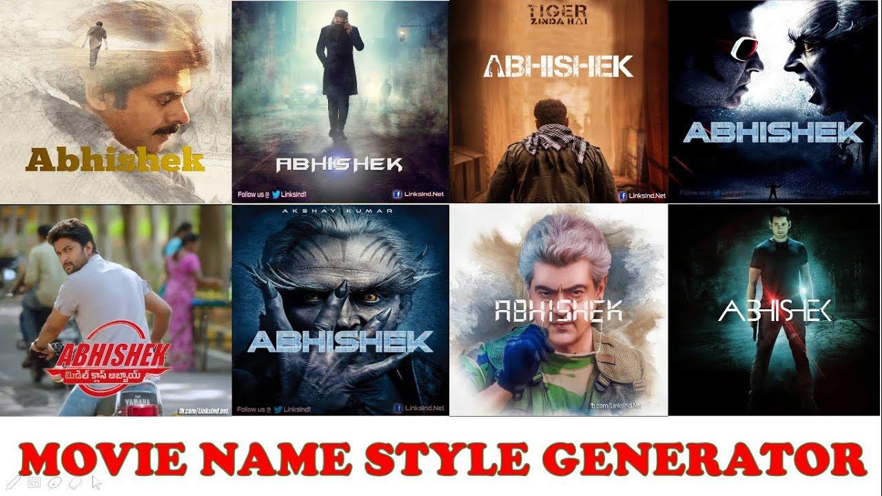 Movie Style Name Generator in Telugu    Kotha Abhishek    saaho    pspk     mca    robo    adirindi