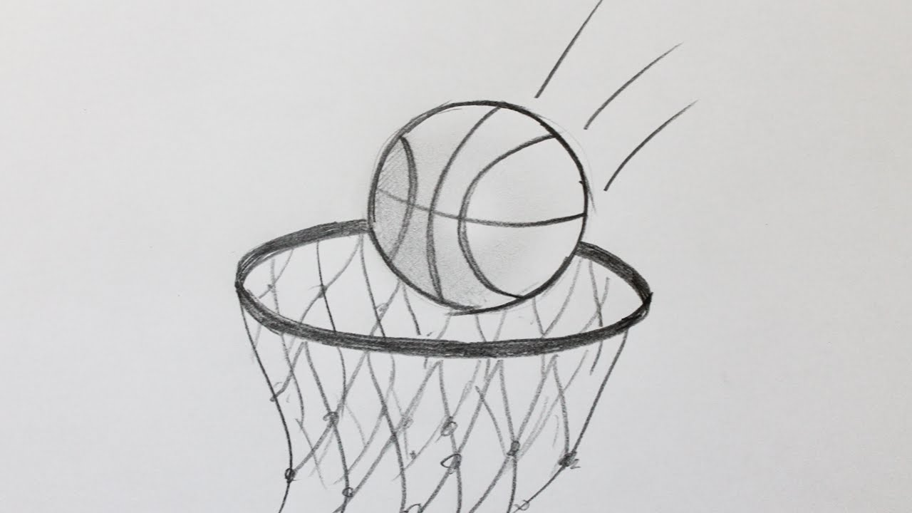 comment dessiner un ballon de basket youtube. Black Bedroom Furniture Sets. Home Design Ideas