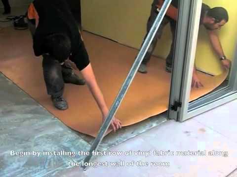 How to install linoleum flooring youtube
