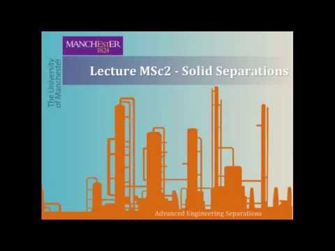 Lecture MSc2 - Solid Separations