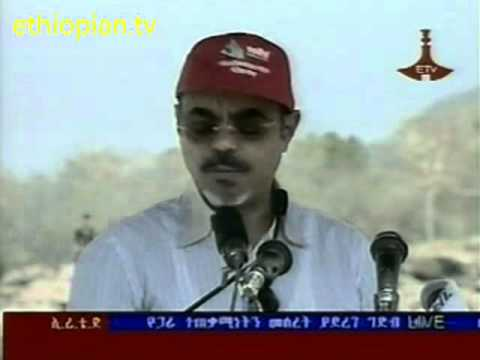 Meles Zenawi Laid the cornerstone for Great Millennium Dam of the Blue Nile, Ethiopia, Part 1 of 2