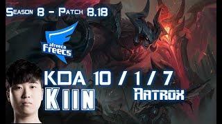 AFs Kiin AATROX vs TEEMO Top - Patch 8.18 KR Ranked