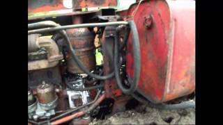 Работа двигателя А 41 на ДТ 75