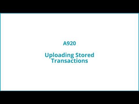 Uploading stored transactions