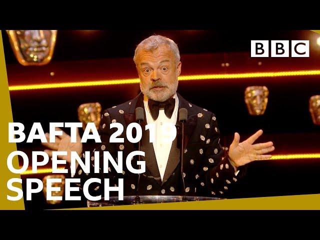 Graham Nortons hilarious speech opens BAFTAs   The British Academy Television Awards 2019 - BBC