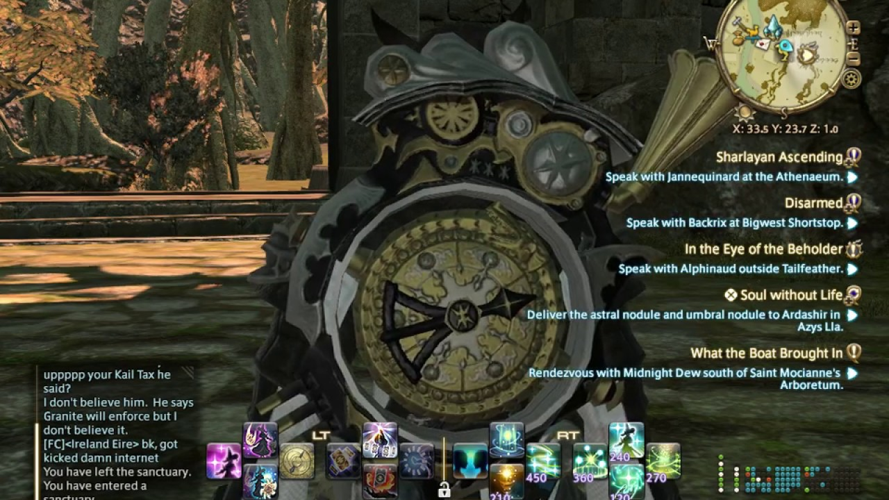 Final Fantasy XIV FFXIV AST Astrologian Ireland Eire The Evening Star  09 10 16