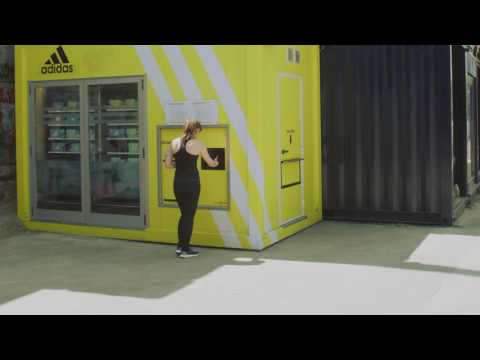 IQ mobile adidas Vending machine Vienna Danube Canal