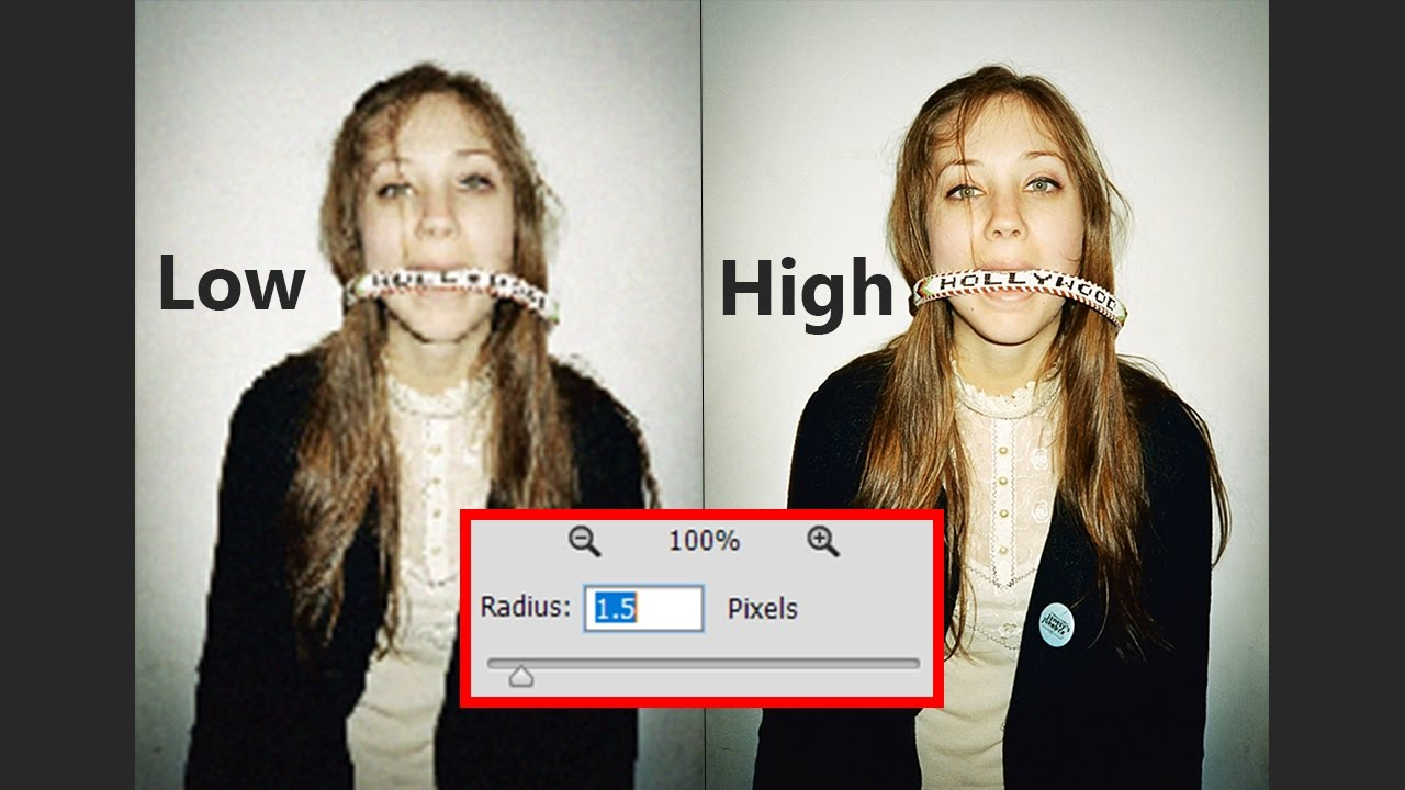 Make low resolution photos high resolution in Photoshop - YouTube