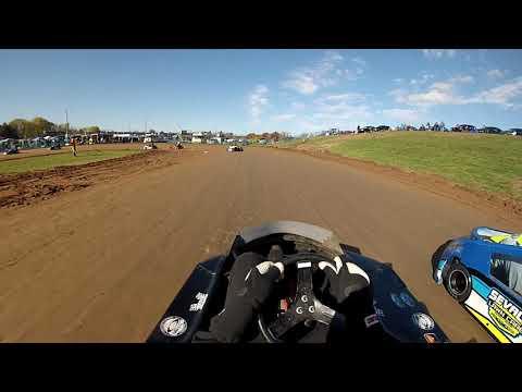 Rice Lake Speedway Kart Track, 10-19-19. Hot Laps, Pumpkin 100.