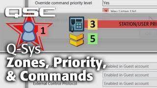 Q-Sys: Public Address - Part B (Zones, Commands, Priority)