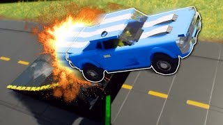 STUNT JUMP RACE CHALLENGE! - Brick Rigs Multiplayer Gameplay - Lego Racing!