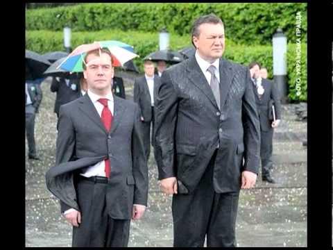 Ukrainian President Viktor Yanukovych Sings