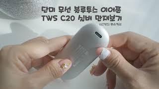 단미 무선 블루투스 이어폰 TWS C20 실버 만져보기…