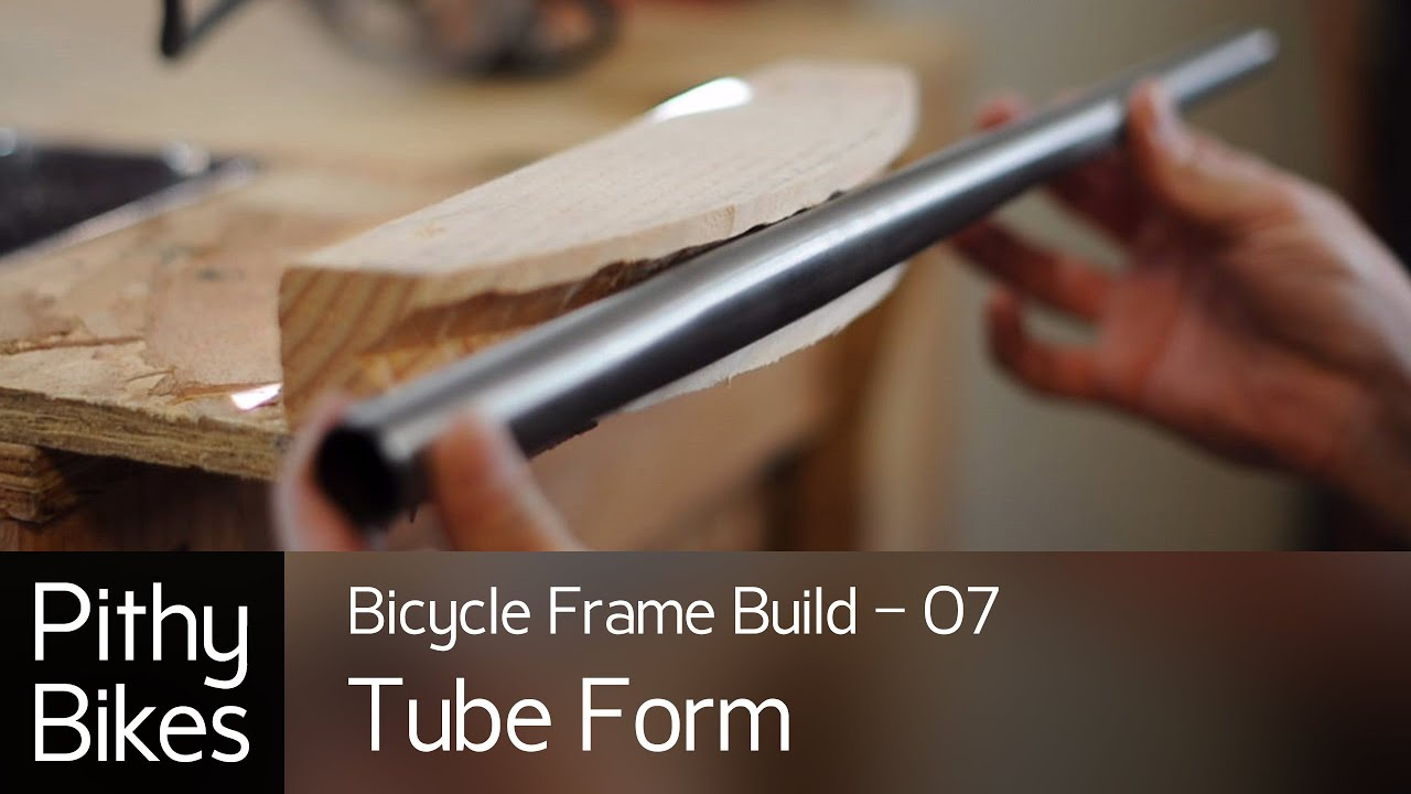bicycle frame build 07 tube bending form youtube