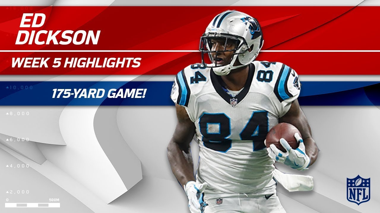best service ab92f e20d4 Ed Dickson Explodes for 175 Yards vs. Detroit! | Panthers vs. Lions | Wk 5  Player Highlights