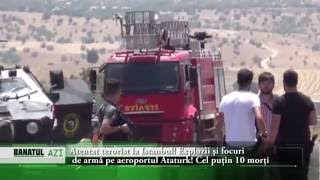 Atentat terorist la Istanbul! Explozii şi focuri de armă pe aeroportul Ataturk! Cel puţin 10 morţi