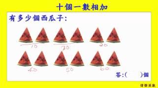 十個一數加法 一年級數學 (Grade 1 Math - Counting numbers by 10)