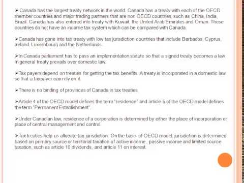 Canadian Tax Treaties