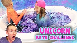 Unicorn Snow Bath Challenge