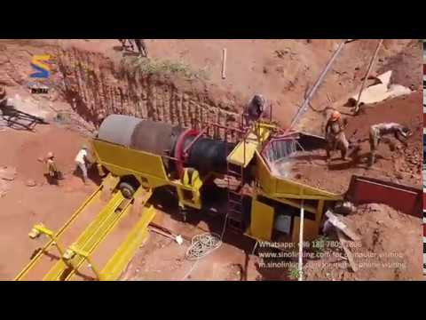 Alluvial Gold Washing Plant SLK-MGT100 Working in Africa Sit