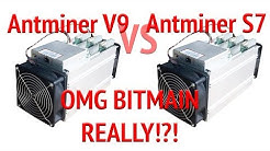 Antminer V9 4THs vs Antminer S7 review Bitmain selling refurbished units as new V9 Antminer