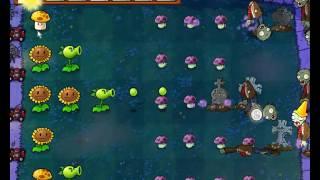 Plants vs Zombies уровень 2-2