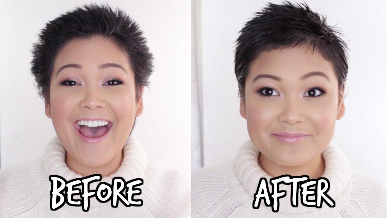 How I Style My Short Hair Buzz Cut Pixie Hair Length Youtube