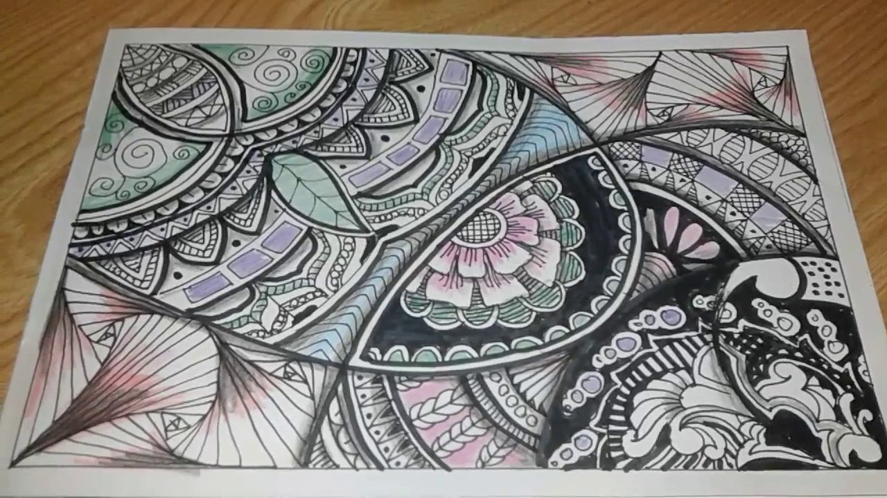Fast Vignette Zentangle Doodle Batik Mandala Youtube