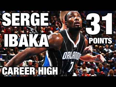 [Highlights] Serge Ibaka (career 11/7 at the time) returns to OKC after trade to Orlando and drops career high 31 PTS + 9 REBS, 4 BLKS and the game-winner to boot