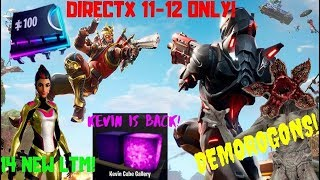 Fortnite-Demogorgon Skin, S10 nicer graphics, Kevin returns! #fortbytesegítség