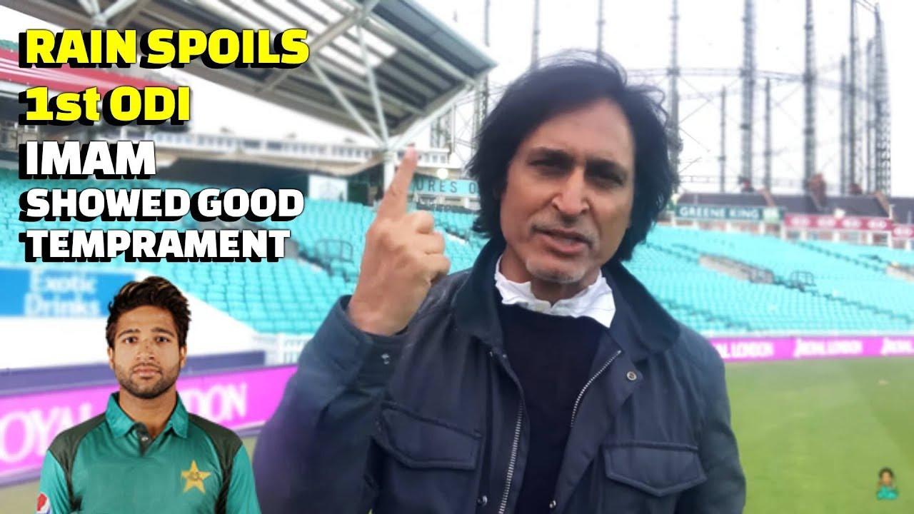 Rain Spoils 1st ODI | Imam showed good temperament in overcast weather