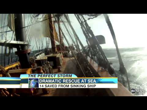 Hurricane Sandy Sinks HMS Bounty, 14 Rescued from Ship Amid