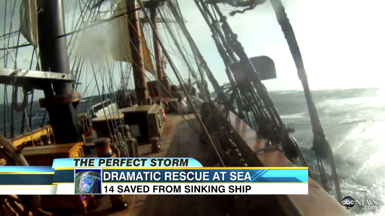 Hurricane Sandy Sinks HMS Bounty, 14 Rescued from Ship ...