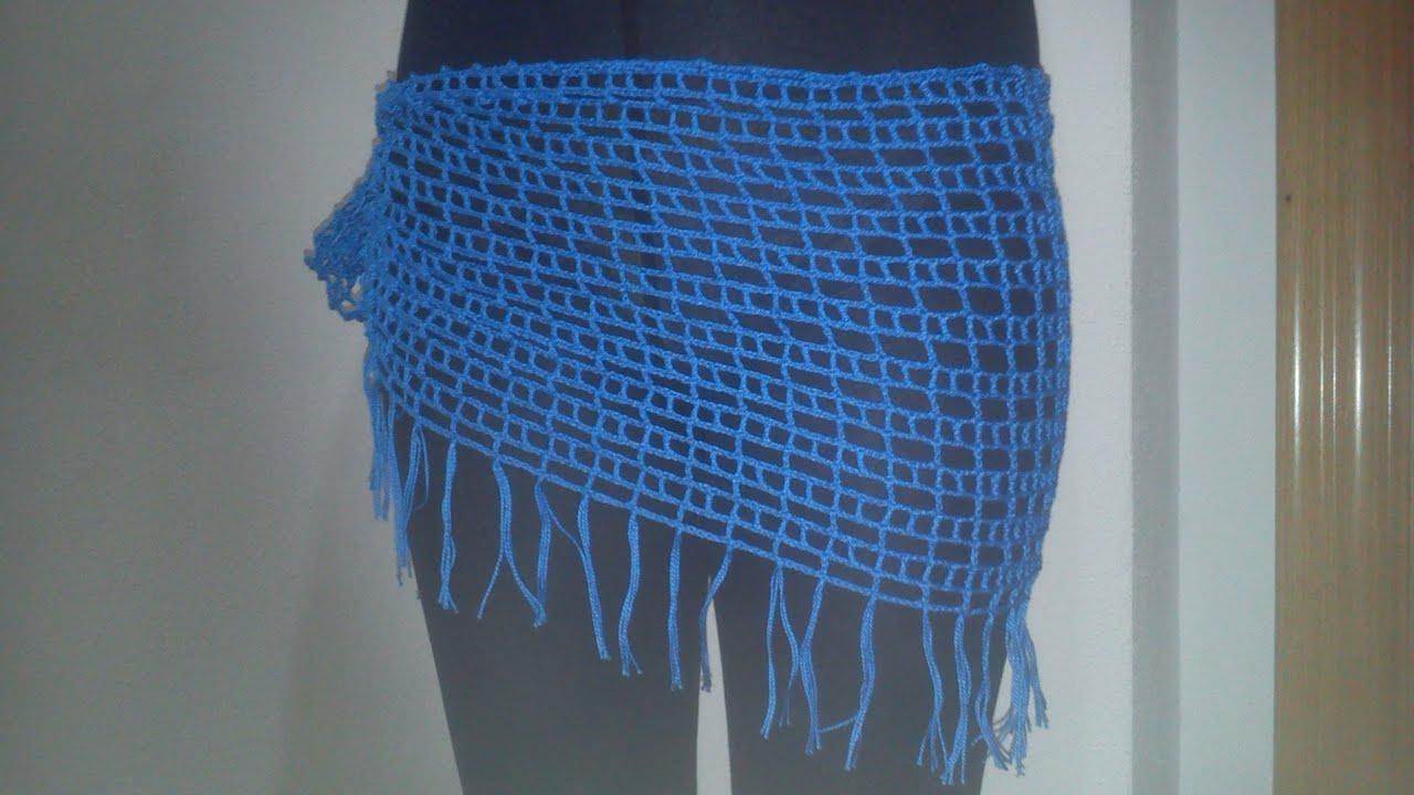 Como hacer un pareo a ganchillo o crochet nivel facil - Como hacer tapetes de ganchillo ...