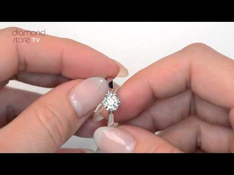UT23 - Low Set Chloe 1ct Diamond Engagement Ring