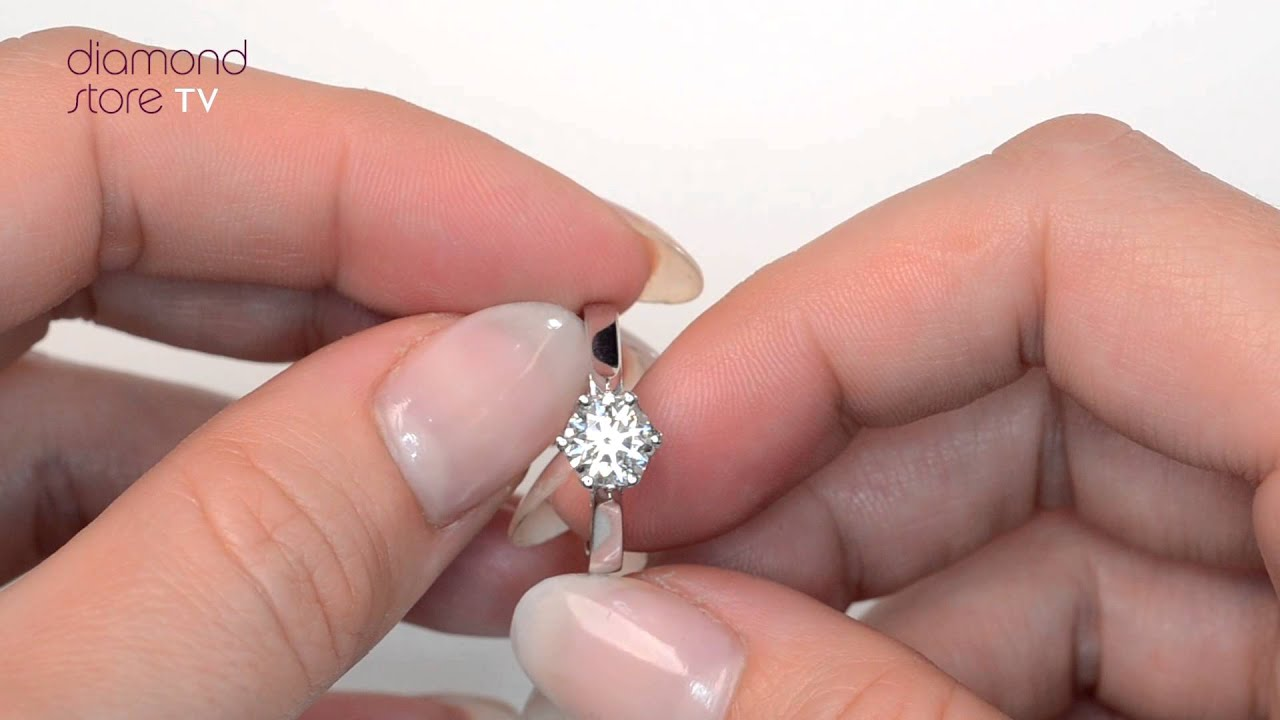ct solitaire rings diamond of round ring best engagement