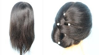 Beautiful Party Hairstyle For Very Short Hair    trending hairstyles 2019    new hairstyle 2019