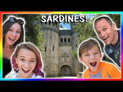 sardines in a real castle! | hide and seek | we are the davises