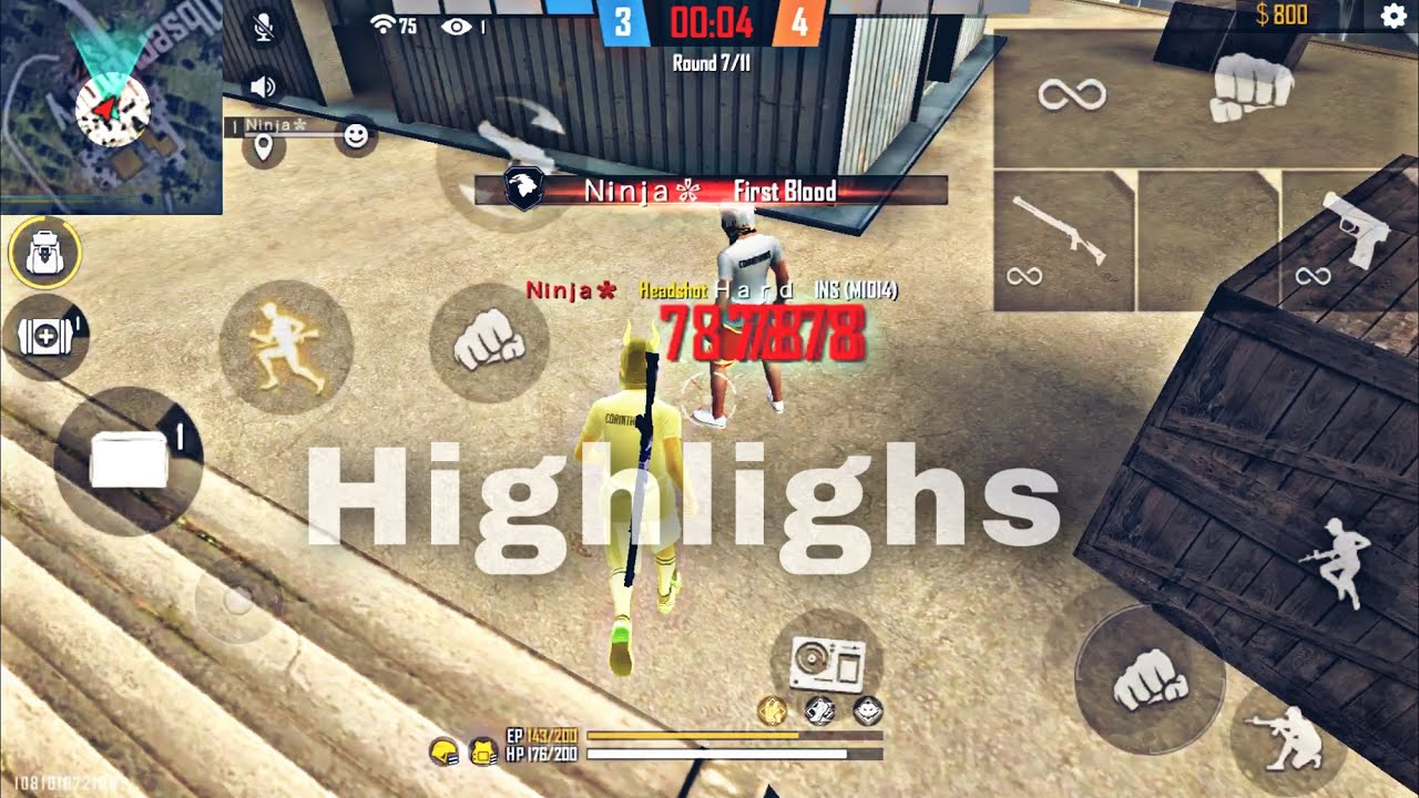 Highlights Headshots Ninja FF ⚡🔥 لقطات نينجا