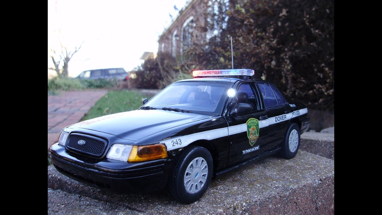 Custom 1:18 scale FORD CROWN VIC DOVER DELAWARE PD w ...