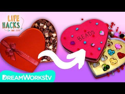 Upcycled Valentines Hacks | LIFE HACKS FOR KIDS