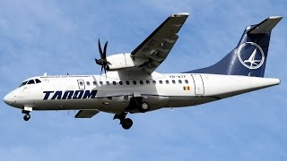 TAROM ATR-42/72 arrives from Otopeni airport