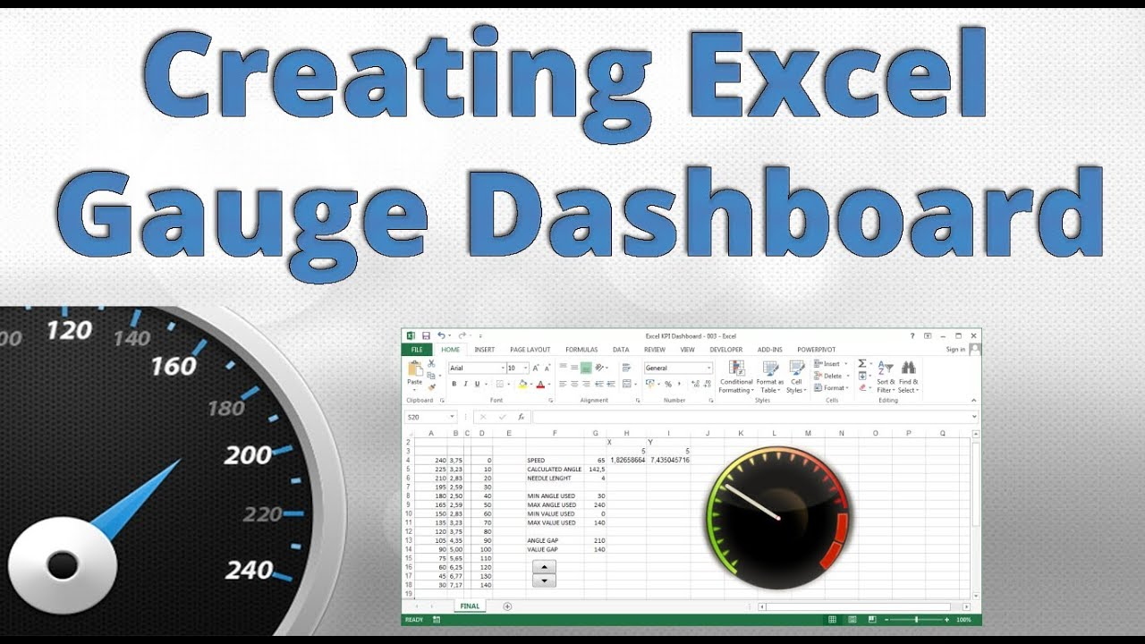 Free dashboard templates in excel 2010 speedometer kpi for Excel speedometer template download