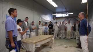 Graco Cordless Sprayer demonstration 206-431-3606  training for Shearer Painting in Seattle, Wa.