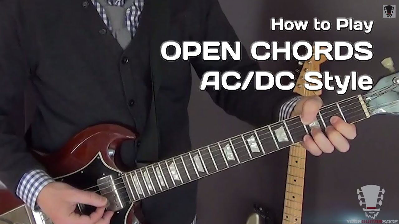 ac dc style electric guitar lesson open chords youtube. Black Bedroom Furniture Sets. Home Design Ideas